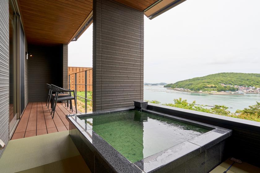 錆浅葱(Sabiasagi) ‐内風呂・露天風呂付き離れ客室‐