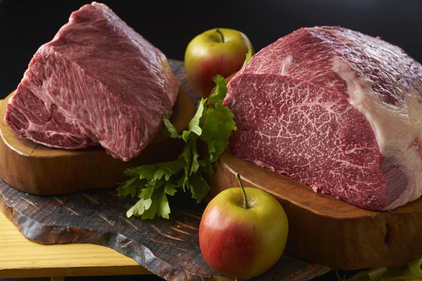 【別注料理】夕食バイキングにもう一品、まろやかな甘みと香りを楽しめる信州りんご和牛ステーキ付きプラン