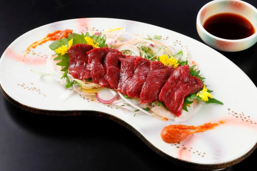 【別注料理付きプラン】会津名物馬刺し付!プラス1品の贅沢1泊2食バイキング付<3/19~6/30 かに食べ放題>