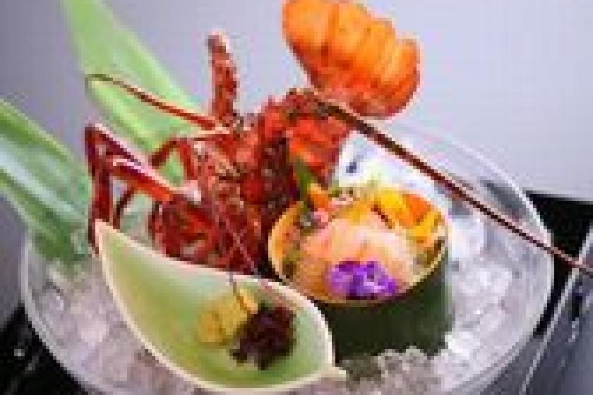 【別注料理:伊勢海老付プラン】ぷりっぷりっの旬の味覚♪伊勢海老付バイキングプラン