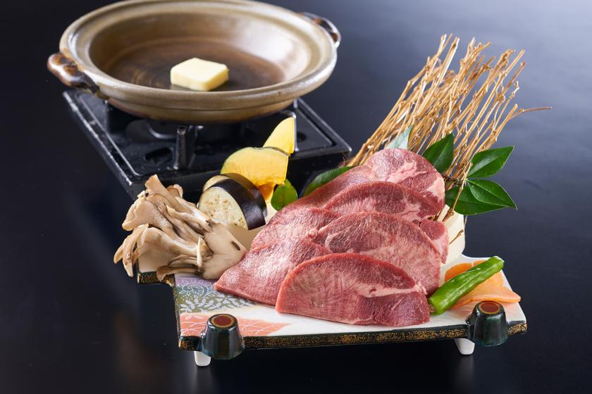 【別注料理付プラン】宮城名物牛タン陶板焼きと1泊2食バイキング付