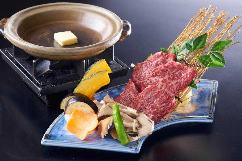 【当館おすすめ!別注料理付プラン】ちょっと贅沢☆夕食に仙台牛陶板焼きと1泊2食バイキング付