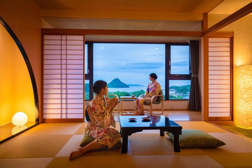 【景観確約】天草富士が目前に広がる絶景を楽しむ1泊2食付き旅行プラン