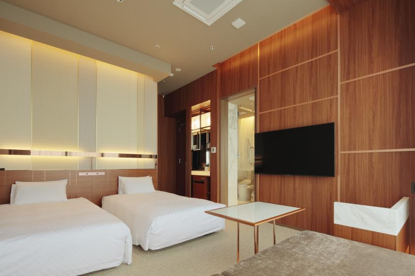 View bath twin overlooking the city of Omiya For a small reward stay (with breakfast)