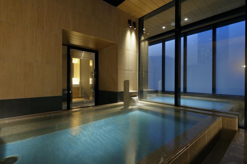 【1名様限定プラン!】最上階の露天風呂と広々キングベッドで快適ステイ 素泊まり
