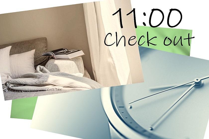 【会員】【11時レイトアウト】朝はゆったり♪(朝食なし)