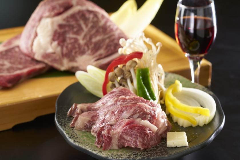 【別注料理】夕食バイキングにもう一品、牛肉の旨みを引き出したワインビーフの陶板焼き付きプラン<3/19~5/31 心ゆくまで味わえる『かに食べ放題』>