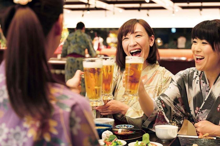 【飲み放題】◆ゴクッとノド越しビールや日本酒・酎ハイなど◆60分アルコール飲み放題プラン 1泊2食付<6/1~7/21 夏の北海道フェア>
