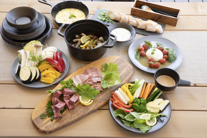 【キャビンステイ】地元名産 常陸牛と彩り野菜のディナーコース
