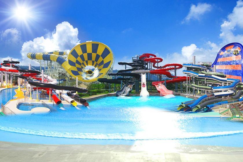 【チケット付き】ザ・モンスタースライダーや波のプールで1日遊べる芝政ワールド1DAYパス付宿泊プラン