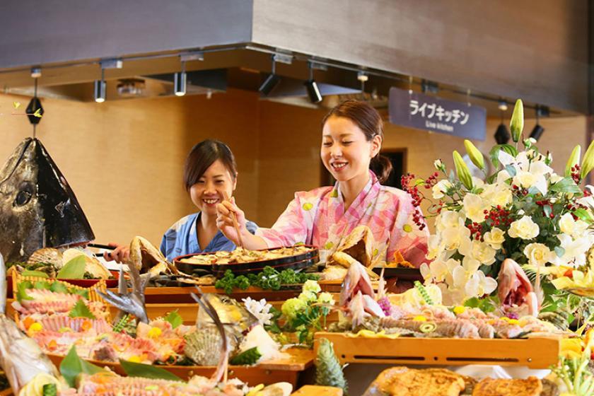 【スタンダードプラン】「関西の奥座敷」芦原で名湯と食を楽しむ 1泊2食付 バイキング <3/19~6/30 心ゆくまで味わえる『かに食べ放題』>