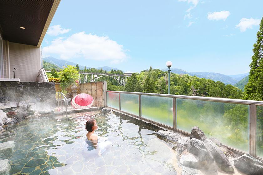 【自由気ままにひとり旅】温泉でのんびり寛ぐ自分だけの贅沢時間 1泊2食付バイキングプラン <6/30まで かに食べ放題>