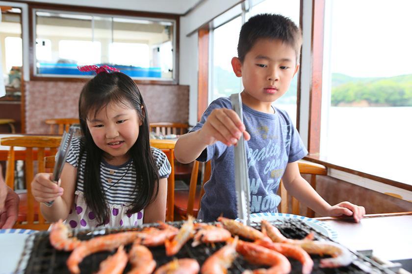 【土曜・祝日】【英虞湾満喫クルーズ付】翌朝9:30発 かご漁も体験★1泊2食バイキングプラン