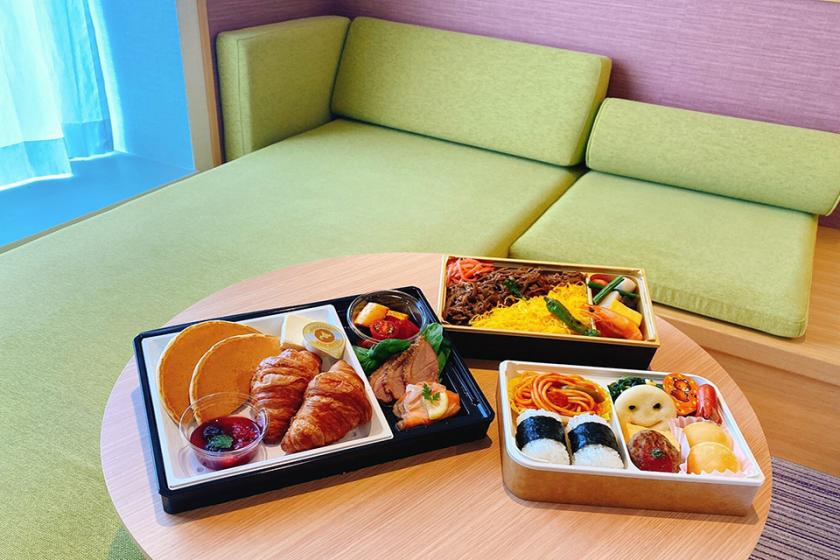 Ideal for family trips! Sleeping together with elementary school students is OK! You can also choose in-room meals. 3 meals for avoiding densely packed breakfast (with breakfast)