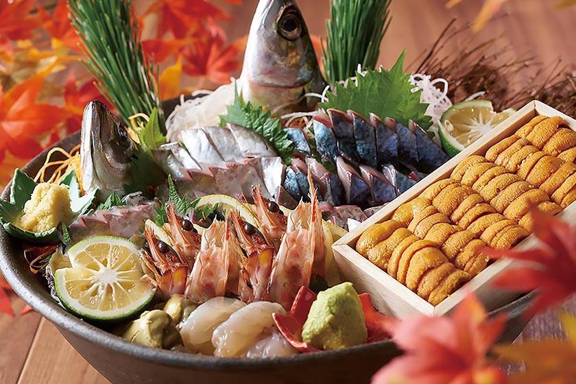 天草 海の幸 贅沢盛り合わせプラン 1泊2食バイキング