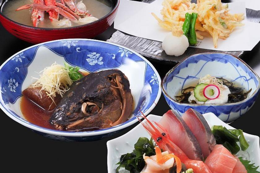 【2食付】お造り盛合わせ付!!「富山湾御膳」の夕食と大人気!朝食付
