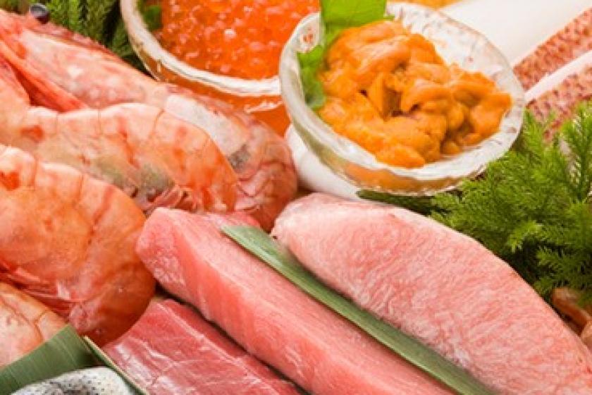 「俺の」シリーズや「板前寿司」「新橋亭」など10店舗で使えるお食事券1人1泊あたり3500円分付(朝食付)