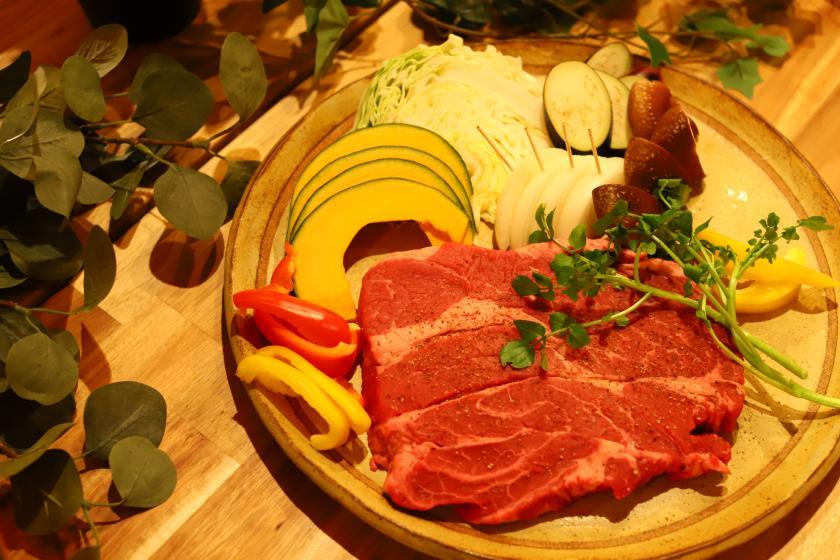 【春季限定】たっぷり春野菜のBBQコース