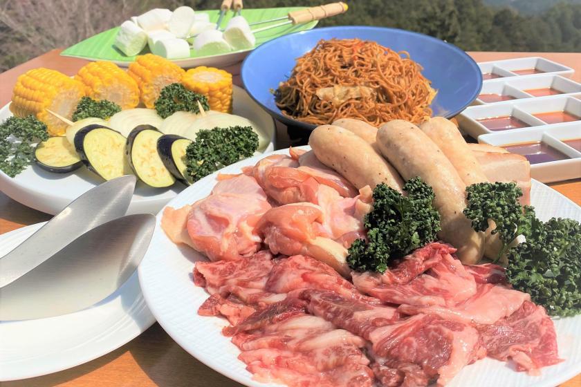 期間限定!【1泊3食★手ぶらで昼食BBQプラン】夕食はメインが選べるカジュアルフレンチコース♪