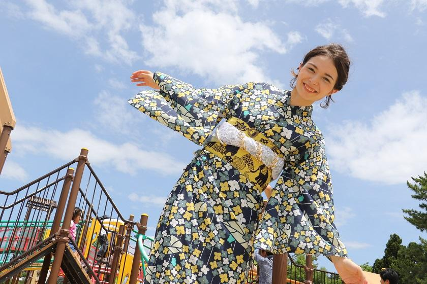 着物ではんなり女子旅in京都☆らくらく館内着付け【平日限定】~朝食付き~