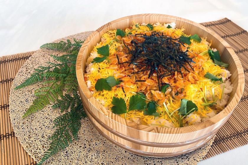 【朝食無料!】旬の桜えび、うなぎ、牛肉の日替わり豪華ちらし寿司!ビュッフェ朝食無料の限定セール!