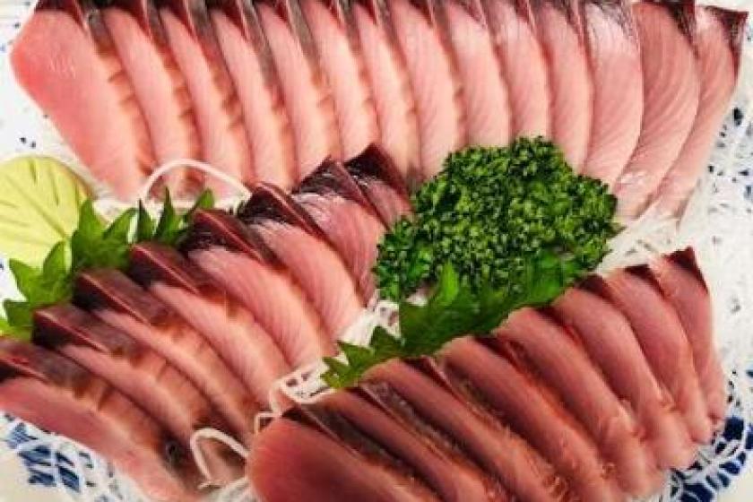 土佐清水の食を満喫プラン!「住箱-JYUBAKO-」+旬の魚 お刺身盛り2人前セット付き!