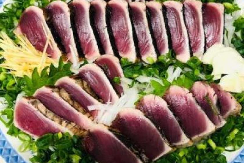 土佐清水の食を満喫プラン!「住箱-JYUBAKO-」+旬の魚 鰹・地魚のたたき2人前セット付き!