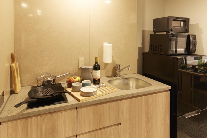【スタンダードプラン】全室キッチン・洗濯機付でお家感覚のステイ!(素泊まり)