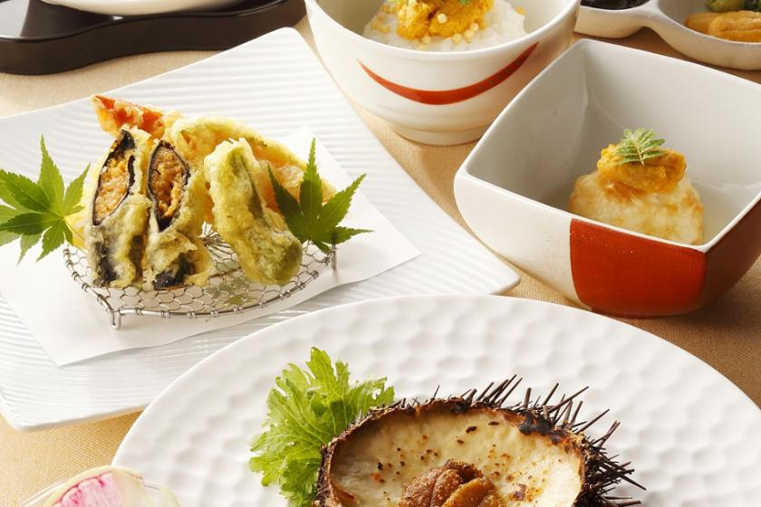 【夕食付き】至福のひとときを♪『函館うに むらかみ』特製うに尽くしコース<朝食付>