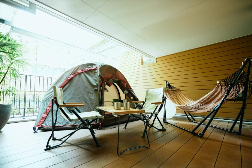 [HOTEL GLAMPING PREMIUM] Limited to one room per day! Have an elegant time in a hammock. <In-house ticket 3000 yen & breakfast included>
