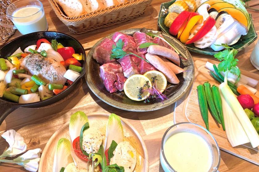 【여름 한정】 여름 야채 장식 BBQ 코스