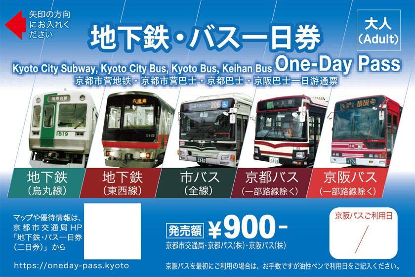 四季折々の京都を地下鉄&バスでお得にぐるり旅☆【地下鉄・バス一日乗車券付プラン♪】(食事なし)