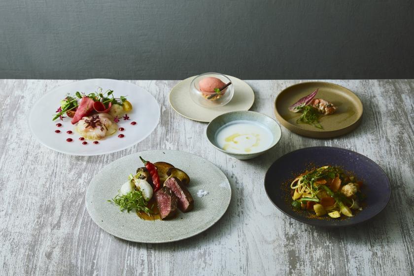 【Dinner at Hyssop】特別な日に。京都の旬食材を楽しむディナーコース。乾杯ドリンクサービス!<夕・朝食付>