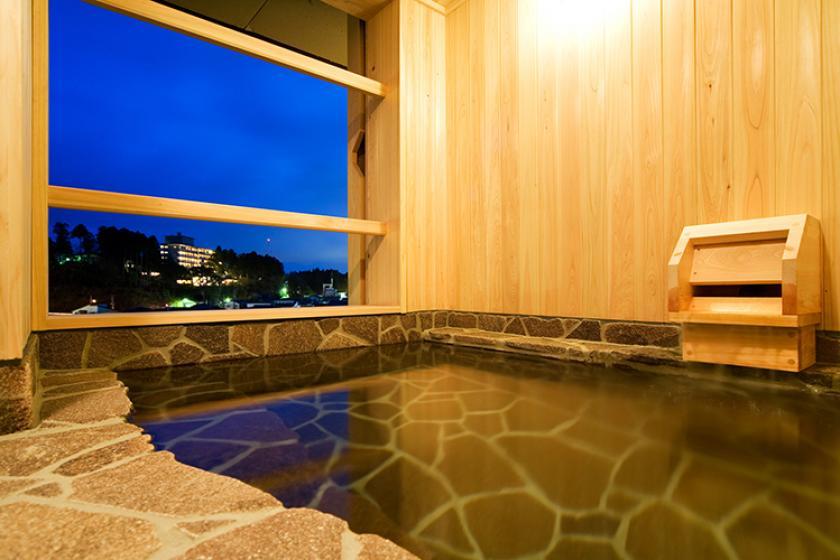 【早期120日前2,500円お得】かけ流し温泉 渓流露天風呂付客室で贅沢なひとときを