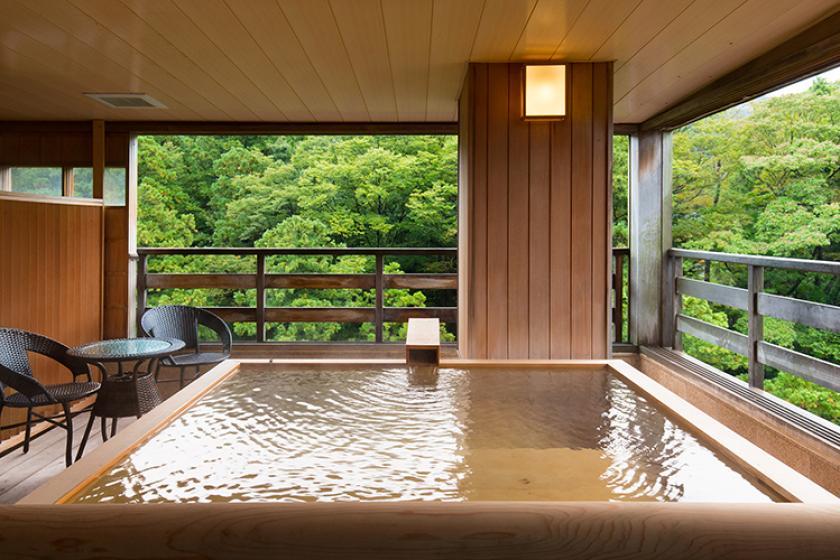 【早期120日前2,000円お得】かけ流し温泉渓流露天風呂付客室で贅沢なひとときを