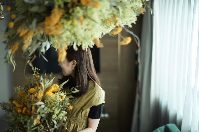 【Yellow ドライフラワーに囲まれて】新ルーム誕生記念☆館内利用券2000円分&選べるスイーツ付き<朝食付>