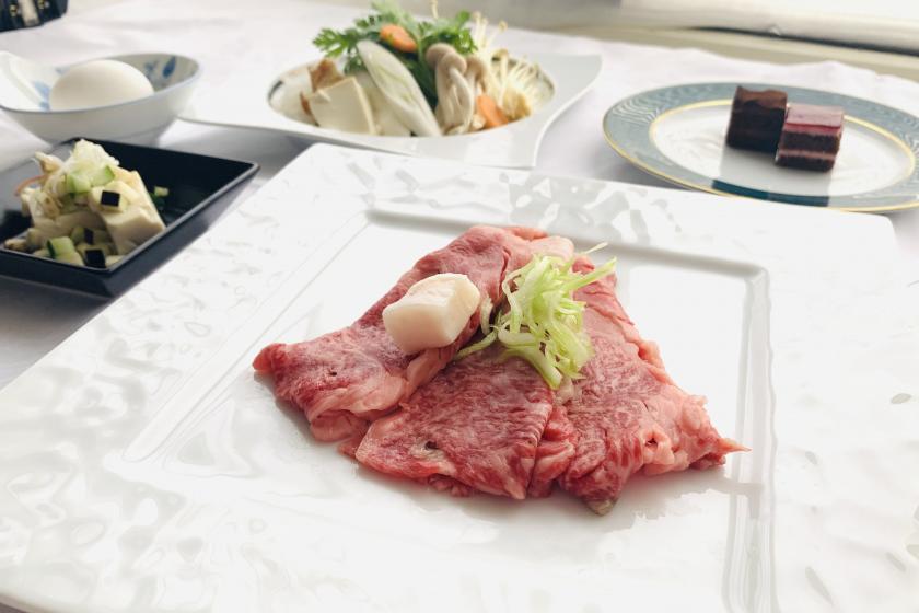 ※やまがた夏旅対象※【お得なディナー】米沢牛ディナーとワインをお好みで♪ 2食付