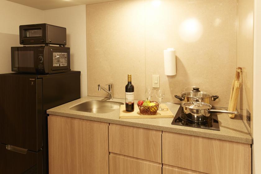 【ラックレート】全室キッチン・洗濯機付でお家感覚のステイ!(素泊まり)