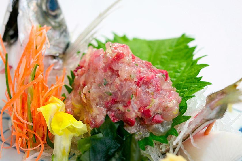 【別注料理】夕食バイキングにもう一品、千葉県の郷土料理、味噌と一緒に味わうなめろう付きプラン