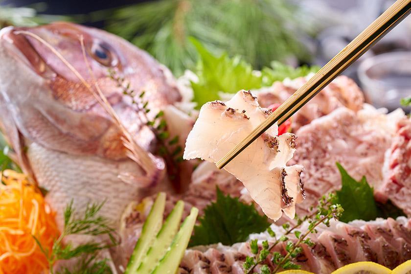 【スタンダードプラン】相模灘を臨む絶景満喫 1泊2食付 バイキング 9月16日~11月30日【金目鯛と豪華海鮮丼を満喫!伊豆の創作グルメバイキング】