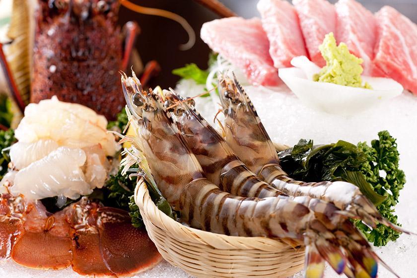 【別注料理】今年も開催 天草えびえびフェア♪ 期間限定伊勢海老と車海老の盛り合わせ付 1泊2食バイキング