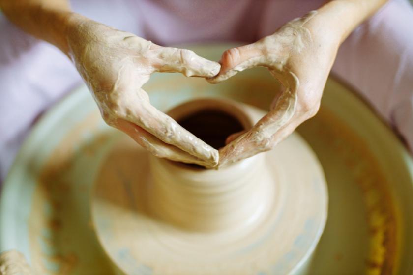 【「陶芸ケロッグ」電動ろくろで製作体験】カップルにオススメ♪楽しい思い出を形に〇1泊朝食付き