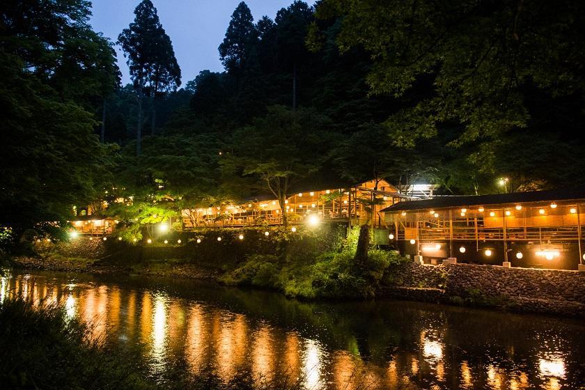 ~京の秋をご満喫~【もみぢ家】で楽しむ川床料理<雪コース/選べる朝食2食付>※送迎付き