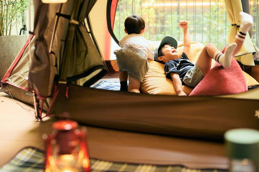 [HOTEL GLAMPING x Japanese peace sofa tetra] Limited to one room per day! You can play card games and picture books! <In-house ticket 3000 yen & breakfast included>