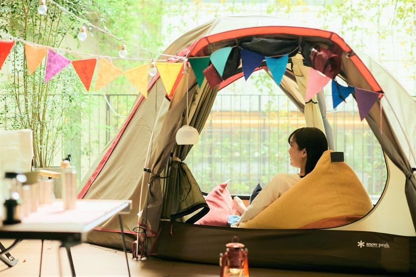 [HOTEL GLAMPING x Japanese peace sofa tetra] Limited to one room per day! You can play card games and picture books! <With 3000 yen ticket for use in the hall, no meals>