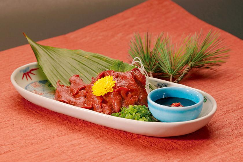 【別注料理】夕食バイキングにもう一品、お客様に大好評な信州名物馬刺し付きプラン