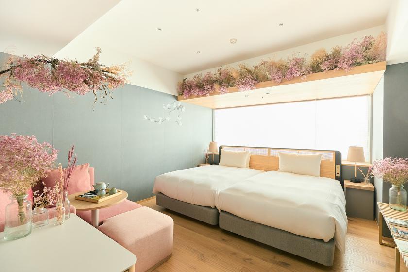 【FLOWER ROOM】各部屋1日1室限定!~お花に囲まれるご滞在~館内利用券2000円分&選べるスイーツ付き<お食事なし>
