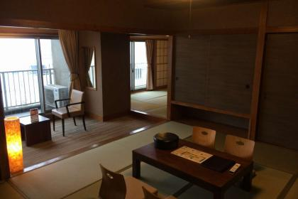 アップグレードのお部屋:【禁煙】和室二間 10+6畳/オーシャンビュー