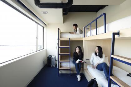 個室 禁煙 |バンクベッド4:共用バスルーム |最大4名(15㎡)