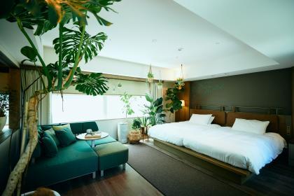 【BOTANICAL ROOM】ガーデンビューツイン(48㎡)